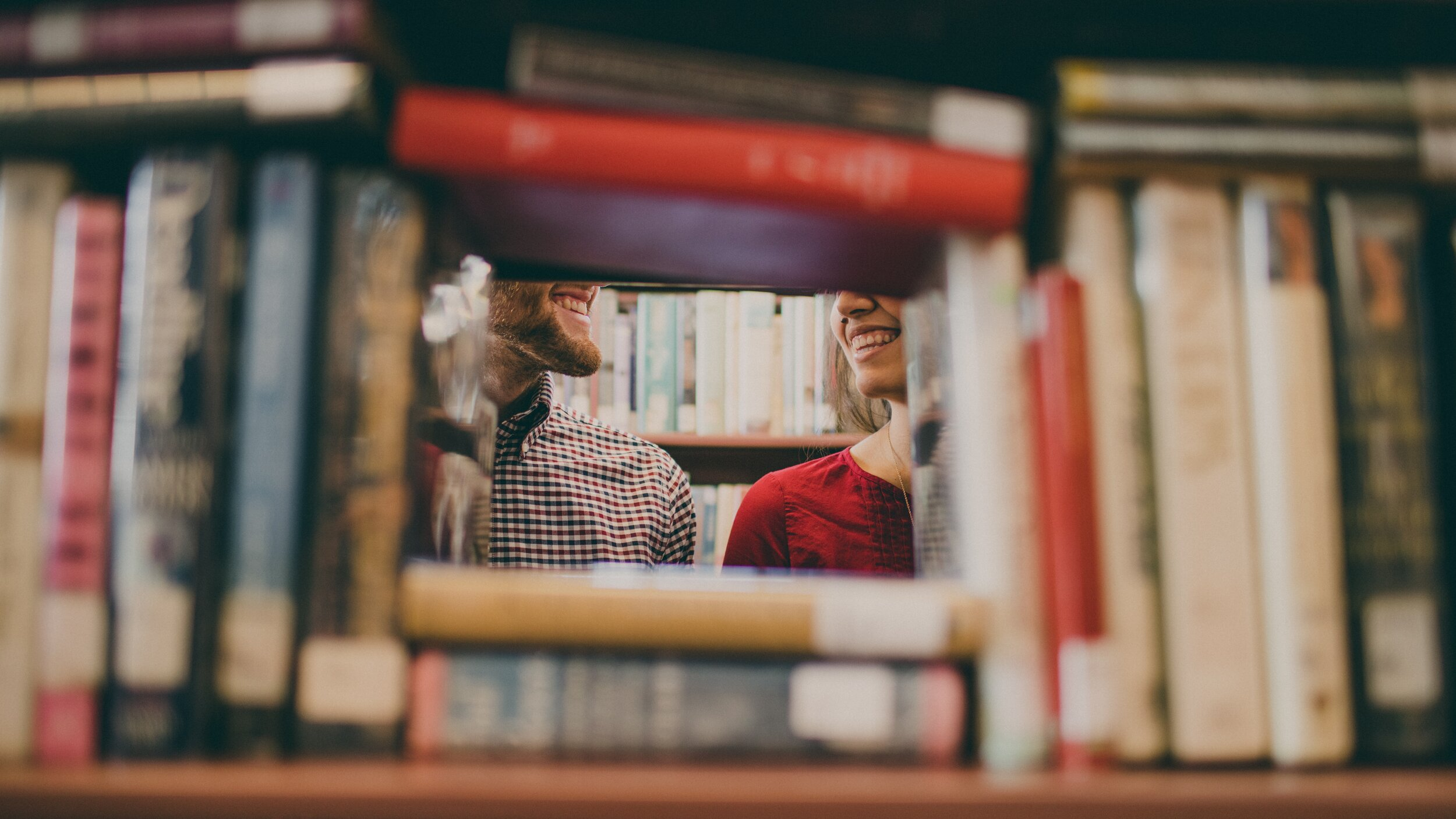 library books couple
