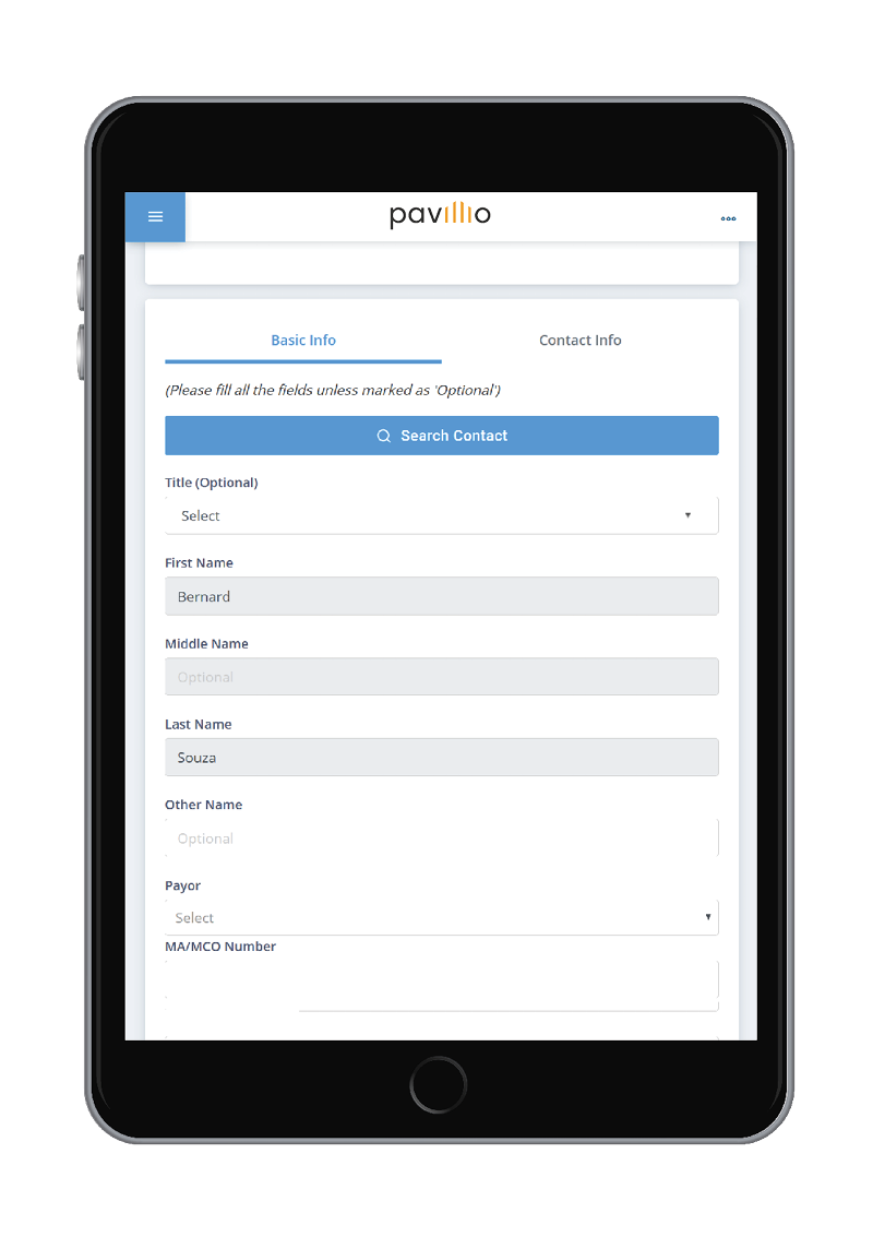cashe software pavillio information collection